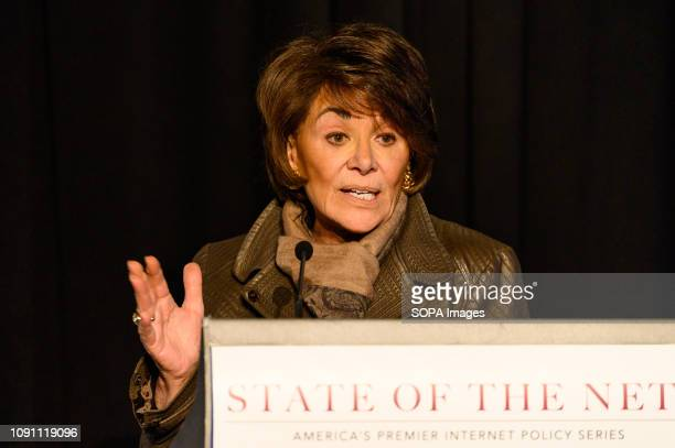 S Representative Anna Eshoo speaking at the State of the Net Conference 2019 at the Newseum in Washington DC