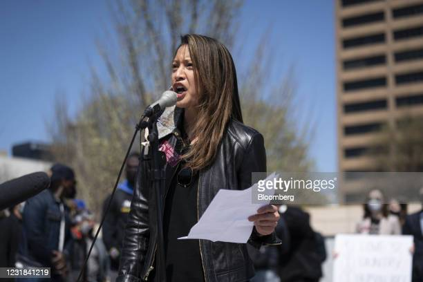 Representative Bee Nguyen, a Democrat from Georgia, speaks during a Stop AAPI Hate Rally in Atlanta, Georgia, U.S., on Saturday, March 20, 2021. Stop...