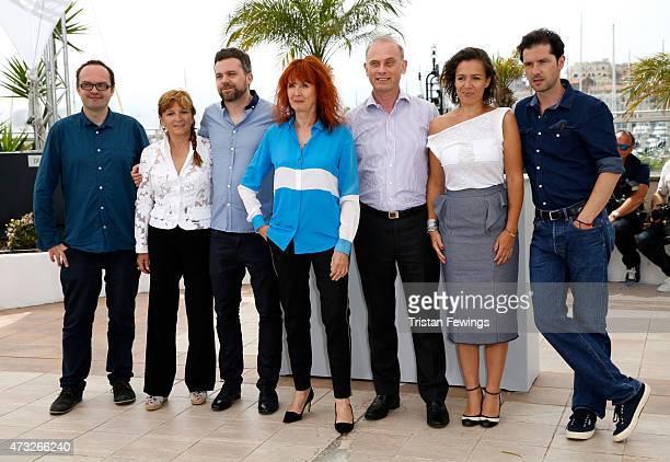Representative Bernard Payen, AFC representative Claude Garnier, SRF representative Yann Gonzalez, actress/director Sabine Azema, FICAM...