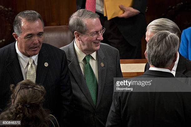 Representative Bob Goodlatte a Republican from Virginia and chairman of the House Judiciary Committee walks in the House Chamber at the US Capitol in...