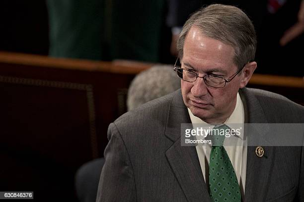 Representative Bob Goodlatte a Republican from Virginia and chairman of the House Judiciary Committee stands in the House Chamber at the US Capitol...