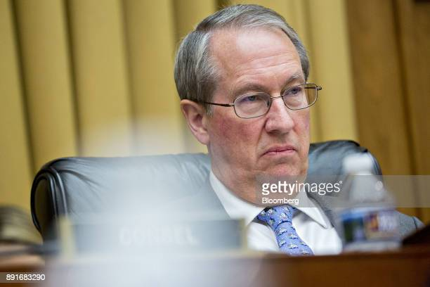 Representative Bob Goodlatte a Republican from Virginia and chairman of the House Judiciary Committee listens during a hearing with Rod Rosenstein...