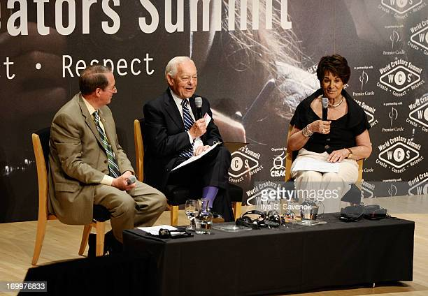 US Representative Bob Goodlatte TV personality Bob Schieffer and US Representative Anna Eshoo speak at World Creators Summit on June 4 2013 in...