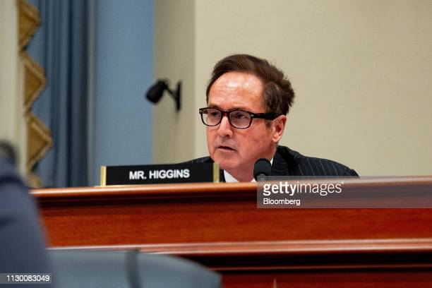 Representative Brian Higgins a Democrat from New York speaks during a House Budget Committee hearing with Russell Vought acting director of the...