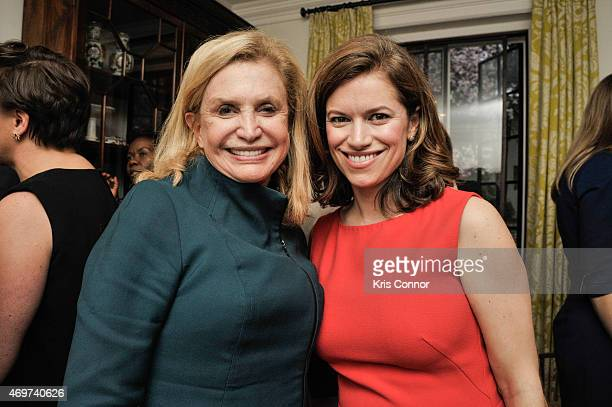 Representative Carolyn B Maloney and New Washington DC Editor Giovanna Gray Lockhart attend a reception to honor Lockhart as the new Glamour...