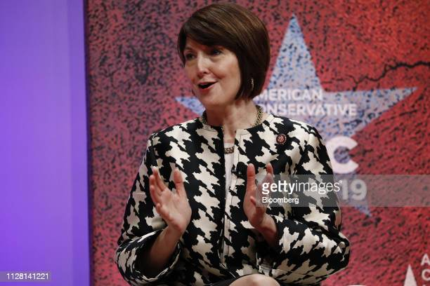 Representative Cathy McMorris Rodgers a Republican from Washington speaks during the American Conservative Unions Conservative Political Action...