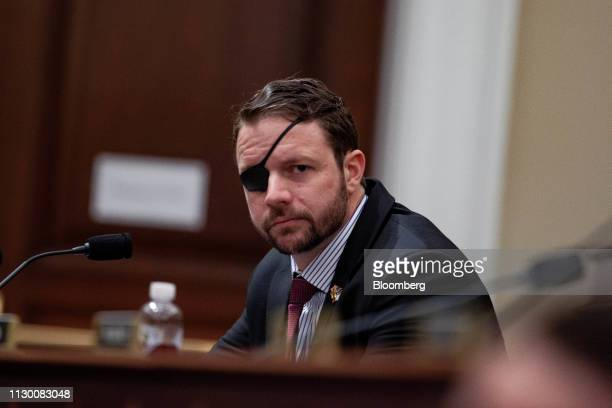 Representative Dan Crenshaw a Republican from Texas listens during a House Budget Committee hearing with Russell Vought acting director of the Office...