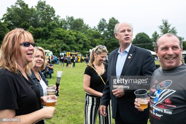 Representative Dan Donovan a Republican from New York attends a campaign stop at Clove Lakes Nursing Home in the Staten Island Borough of New York US...