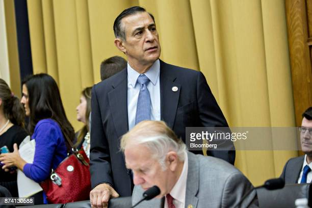 Representative Darrell Issa a Republican from California arrives to a House Judiciary Committee hearing with Jeff Sessions US attorney general not...