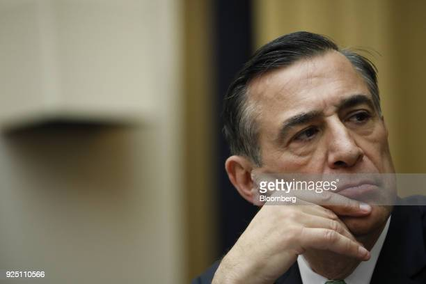 Representative Darryl Issa a Republican from California listens during a House Judiciary Subcommittee hearing on the proposed merger of CVS Health...