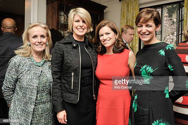 Representative Debbie Dingell Penny Lee Glamour Editor In Chief Cindi Leive and New Washington DC Editor Giovanna Gray Lockhart attend a reception to...