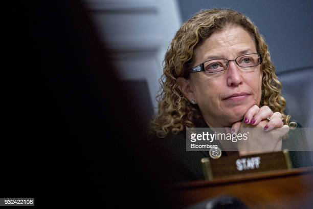Representative Debbie Wasserman Schultz a Democrat from Florida and ranking member of the House Appropriations Military Construction Veterans Affairs...