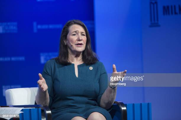 Representative Diana DeGette a Democrat from Colorado speaks during the Milken Institute Global Conference in Beverly Hills California US on Monday...