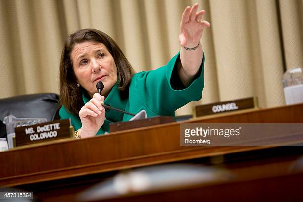 Representative Diana DeGette a Republican from Colorado questions witnesses during a House Energy and Commerce Committee subcommittee hearing on the...