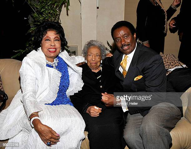 Representative Diane E Watson Mrs Watson and former NFL Player and CBS Sportscaster Jim Hill attend the birthday celebration and fundraiser for...