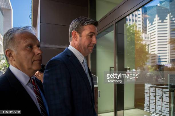 Representative Duncan Hunter a Republican from California arrives at federal court in San Diego California US on Monday July 1 2019 US prosecutors...