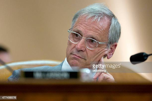 Representative Earl Blumenauer a Democrat from Oregon listens during a House Ways and Means Committee hearing on longterm financing of the Highway...