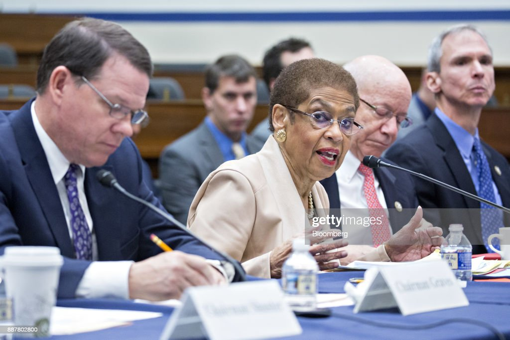 Representative Eleanor Holmes Norton, a Democrat from the District of Columbia, speaks during a House Highways and Transit Subcommittee roundtable discussion in Washington, D.C., U.S., on Thursday, Dec. 7, 2017. The roundtable focused on emerging technologies being utilized or explored in the trucking industry. Photographer: Andrew Harrer/Bloomberg via Getty Images