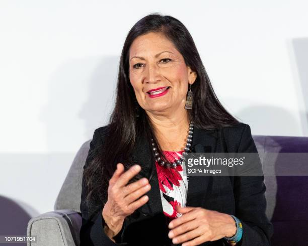 Representative Elect Deb Haaland seen at Politico's 6th Annual Women Rule Summit in Washington DC