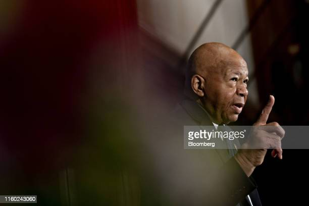 Representative Elijah Cummings a Democrat from Maryland and chairman of the House Oversight Committee speaks during a National Press Club event in...