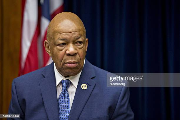 Representative Elijah Cummings a Democrat from Maryland and ranking member of the House Oversight and Government Reform Committee waits to begin a...