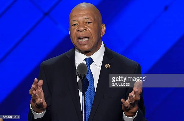 US Representative Elijah Cummings speaks during Day 1 of the Democratic National Convention at the Wells Fargo Center in Philadelphia Pennsylvania...