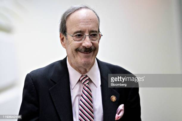 Representative Eliot Engel a Democrat from New York and chairman of the House Foreign Affairs Committee exits a weekly Democratic caucus meeting at...