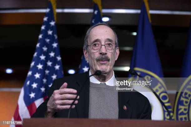 Representative Eliot Engel a Democrat from New York speaks during a news conference at the US Capitol in Washington DC US on Tuesday Jan 28 2020...
