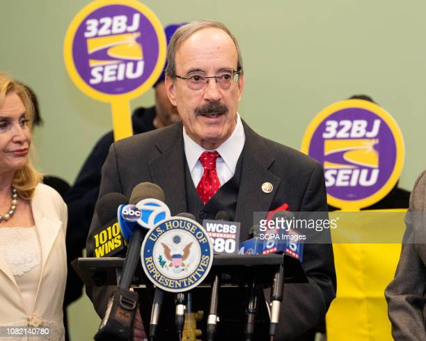 S Representative Eliot Engel at a press conference to call for the end of the federal government shutdown The press conference was held at Gouverneur...