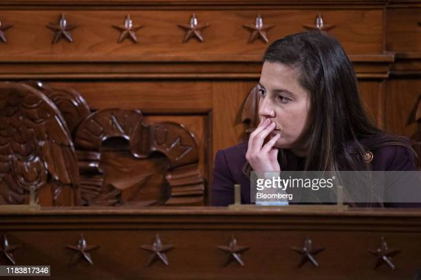 Representative Elise Stefanik, a Republican from New York, listens during a House Intelligence Committee impeachment inquiry hearing in Washington,...
