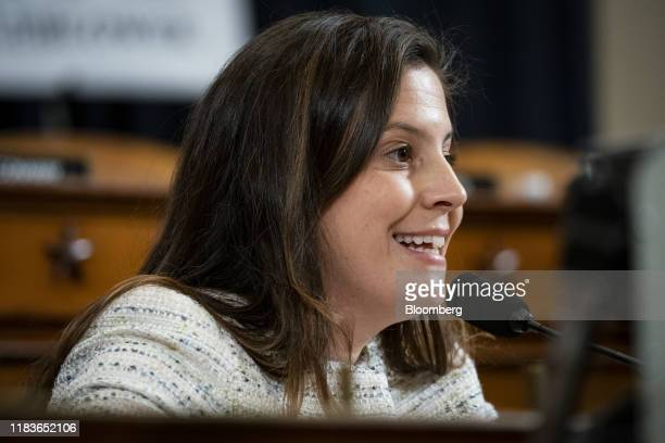 Representative Elise Stefanik, a Republican from New York, questions Gordon Sondland, U.S. Ambassador to the European Union, not pictured, during a...