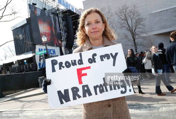 S Representative for Florida's 23rd congressional district Debbie Wasserman Schultz attends March For Our Lives on March 24 2018 in Washington DC