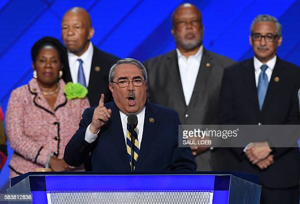US Representative GK Butterfield speaks during the third day of the Democratic National Convention at the Wells Fargo Center July 27 2016 in...