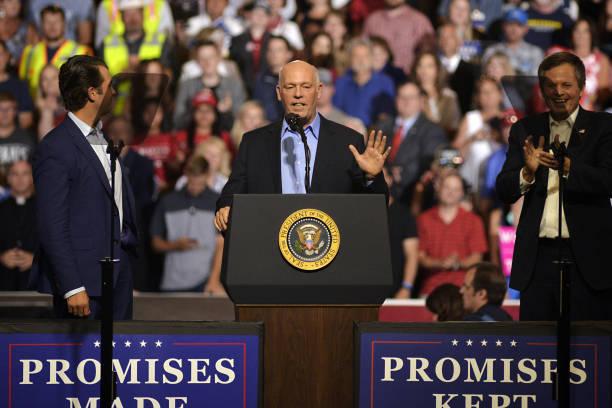president trump holds maga rally with senate candidate matt