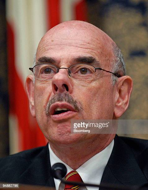 Representative Henry Waxman, a Democrat from California, chairs a hearing of the House Oversight and Government Reform Committee on severance...