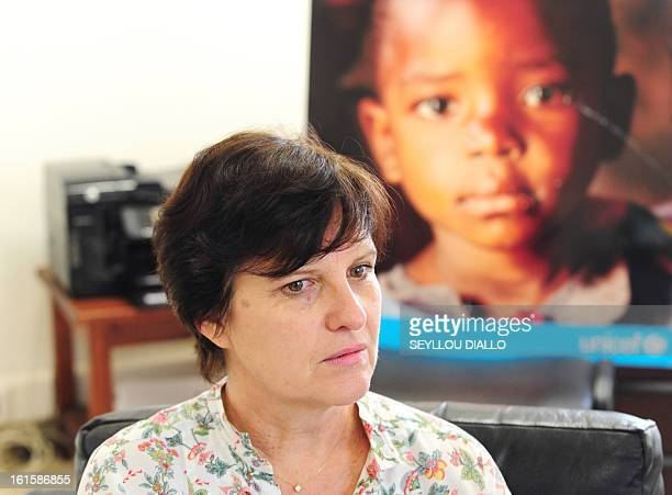 Representative in Mali, Francoise Ackermans of Belgium, poses on February 11, 2013 in Dakar. Ackermans said child soldiers were deployed by groups...