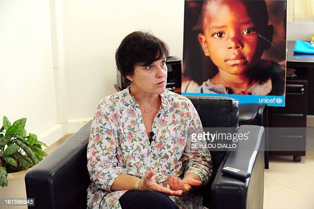 Representative in Mali, Francoise Ackermans of Belgium, speaks on February 11, 2013 in Dakar. Ackermans said child soldiers were deployed by groups...