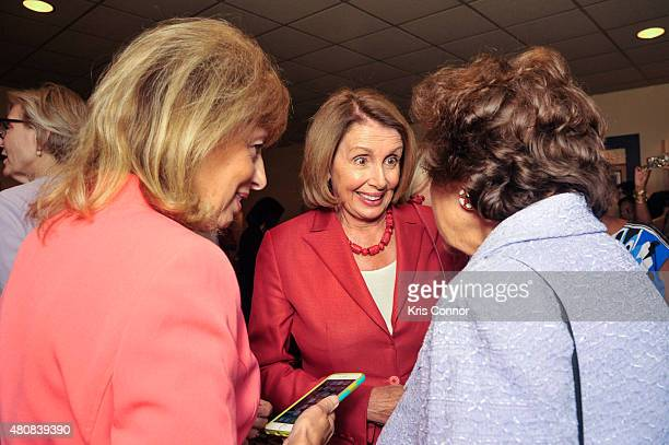 Representative Jackie Speier Minority Leader Nancy Pelosi and Rep Nita Loweyattend the 'Time Out Of Mind' Washington DC Screening at Landmark E...