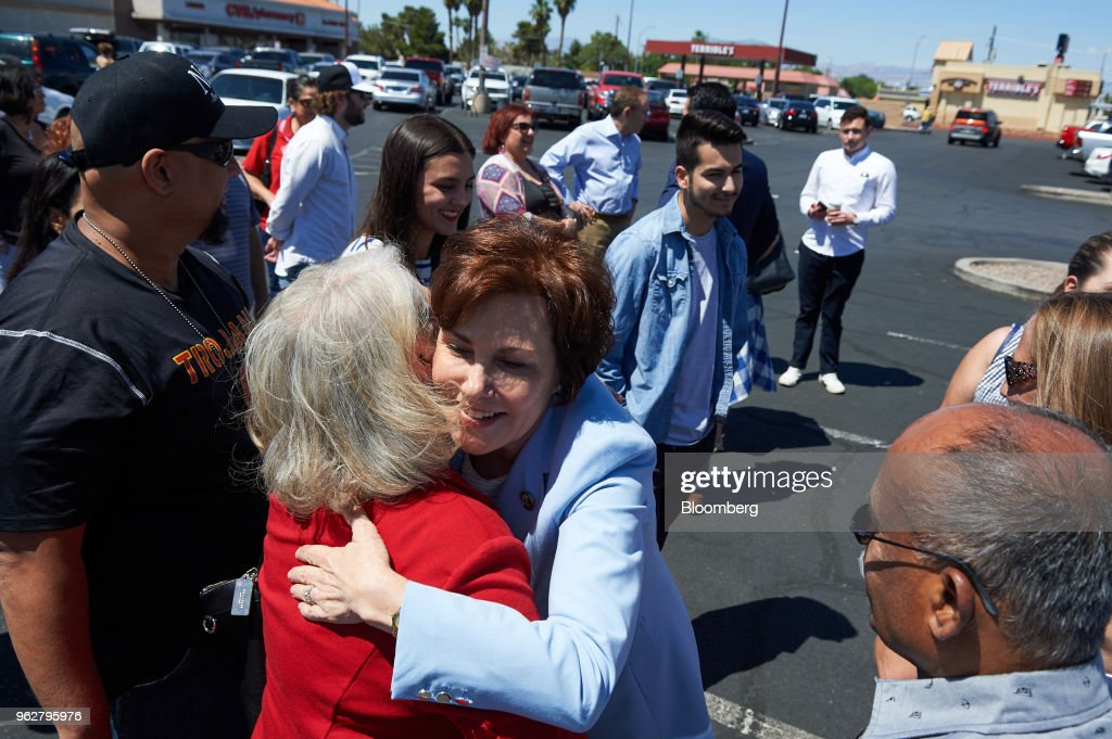 Democratic Senate Candidate Jacky Rosen Votes Early Ahead Of The Nevada Primary Election