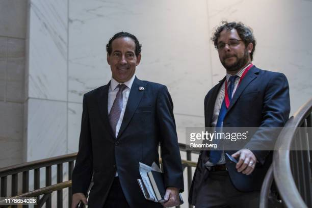 Representative Jamie Raskin a Democrat from Maryland left arrives before a meeting with the House Intelligence Committee on Capitol Hill in...