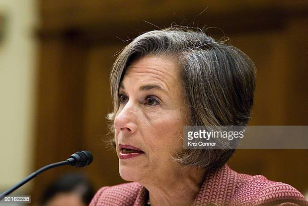 Representative Janice Schakowsky speaks during the International Violence Against Women Stories and Solutions hearing at Rayburn House Office...