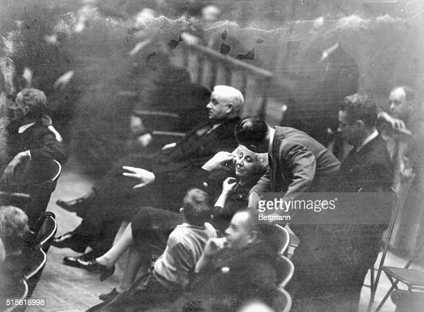 Representative Jeannette Rankin of Montana is shown on the floor of House during Resolution of War Declaration on Japan on December 8 1941 She was...