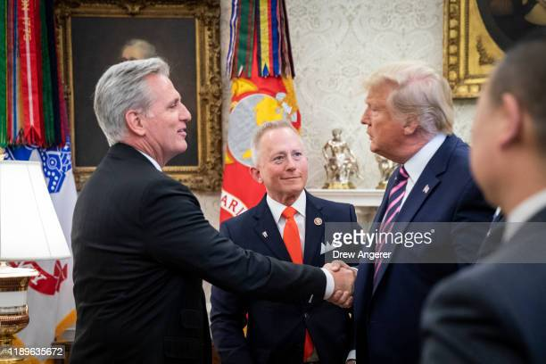 Representative Jeff Van Drew of New Jersey who has announced he is switching from the Democratic to Republican Party looks on as House Minority...