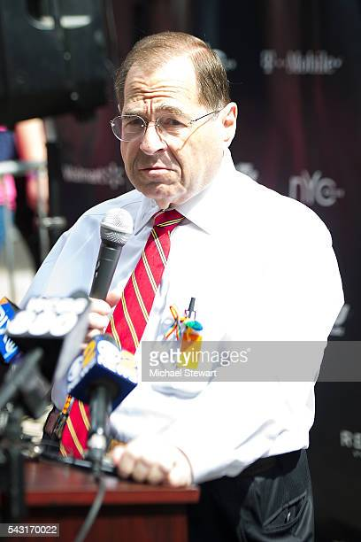 S Representative Jerry Nadler attends the 2016 Pride March on June 26 2016 in New York City