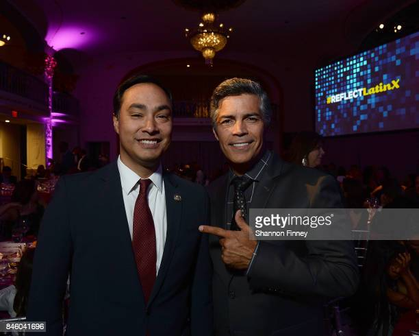Representative Joaquin Castro and actor Esai Morales at the National Hispanic Foundation for the Arts 2017 Noche de Gala at The Mayflower Hotel on...