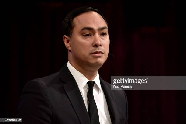 S Representative Joaquin Castro speaks about 'Congress' Role in Trump Era Foreign Policy' at Harvard University Institute of Politics John F Kennedy...
