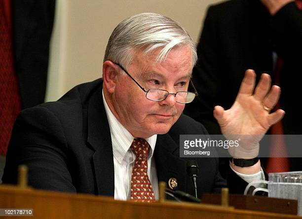 Representative Joe Barton a Republican from Texas questions Tony Hayward chief executive officer of BP Plc during a House Energy and Commerce...