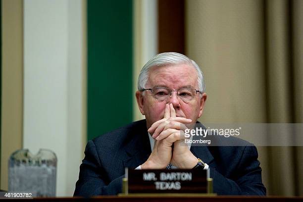 Representative Joe Barton Republican of Texas listens during a House Energy and Commerce Subcommittee hearing in Washington DC US on Wednesday Jan 21...