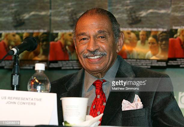 US Representative John Conyers attends the Traces of the Trade Press Conference at Yarrow during the 2008 Sundance Film Festival on January 21 2008...