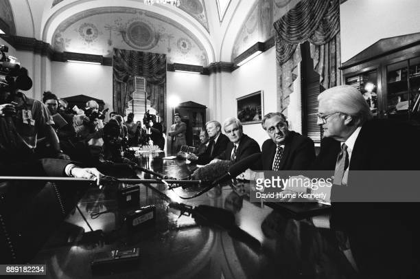 Representative John Conyers House Minority Leader Richard Gephardt House Speaker Newt Gingrich House Majority Leader Dick Armey and Chair of the...